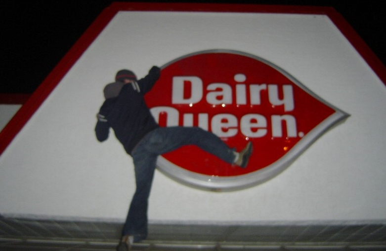 Man attacking Dairy Queen